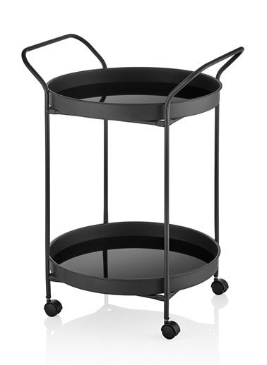 The Mia Servis Arabası Siyah 52 x 52 Cm Siyah